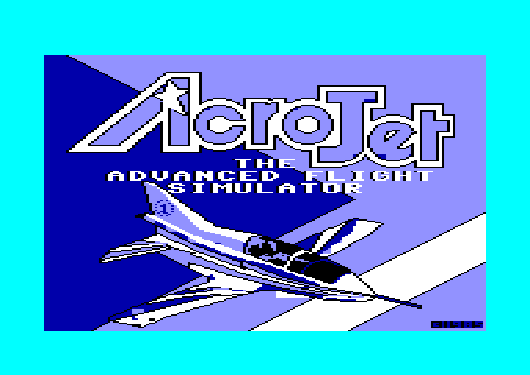 screenshot of the Amstrad CPC game Acro Jet The Advanced Flight Simulator