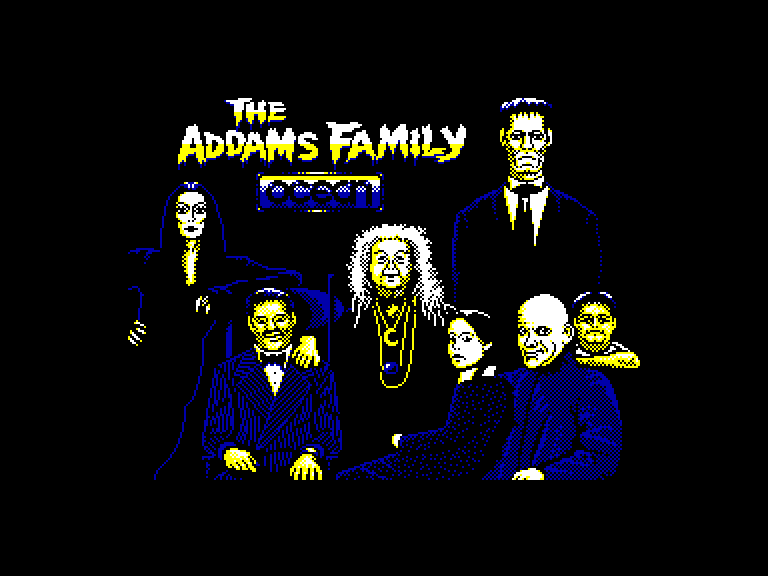 screenshot of the Amstrad CPC game Addams Family (the)