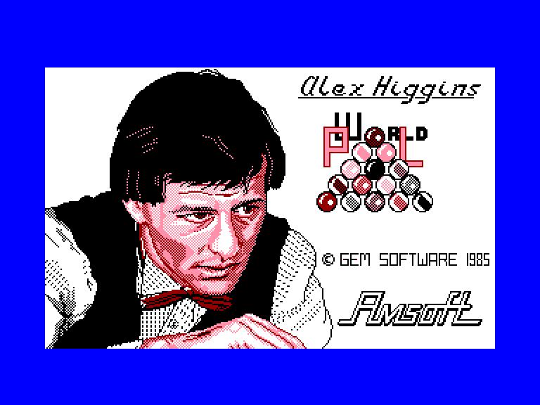 screenshot of the Amstrad CPC game Alex Higgins' World Pool