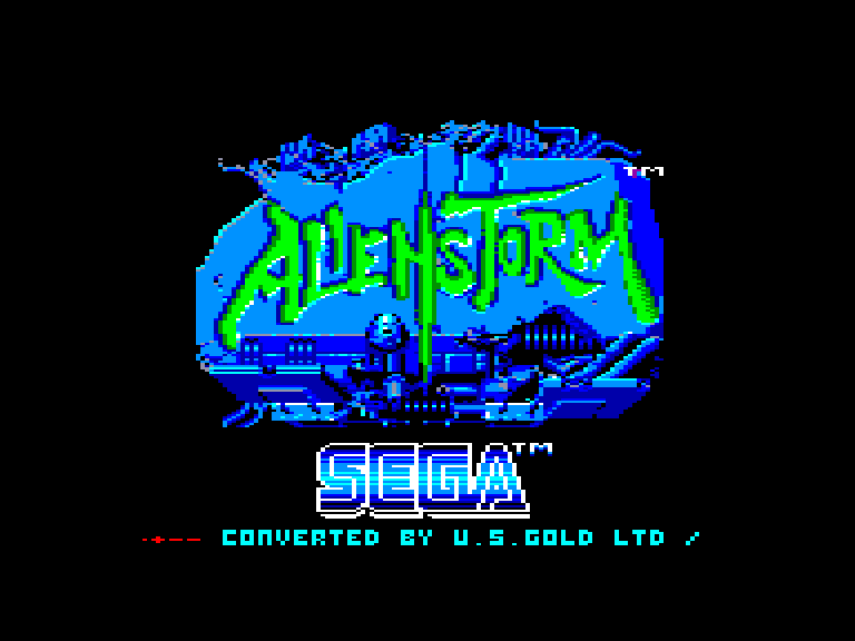 screenshot of the Amstrad CPC game Alien storm