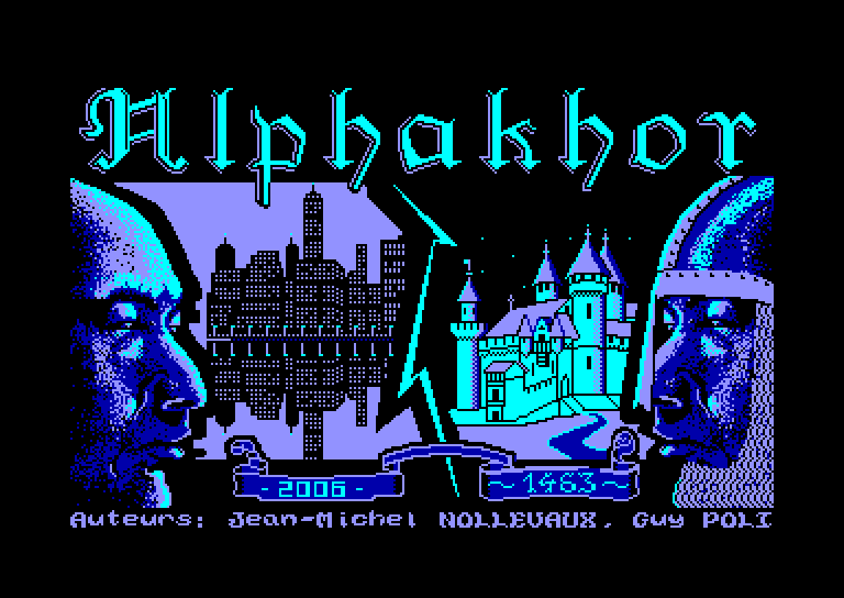 screenshot of the Amstrad CPC game Alphakhor