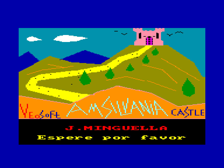 screenshot of the Amstrad CPC game Amsilvania castle
