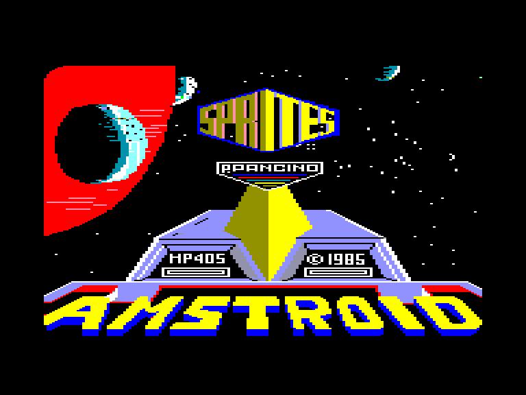 screenshot du jeu Amstrad CPC Amstroid