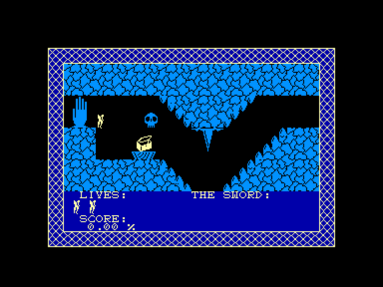 screenshot of the Amstrad CPC game Anduril