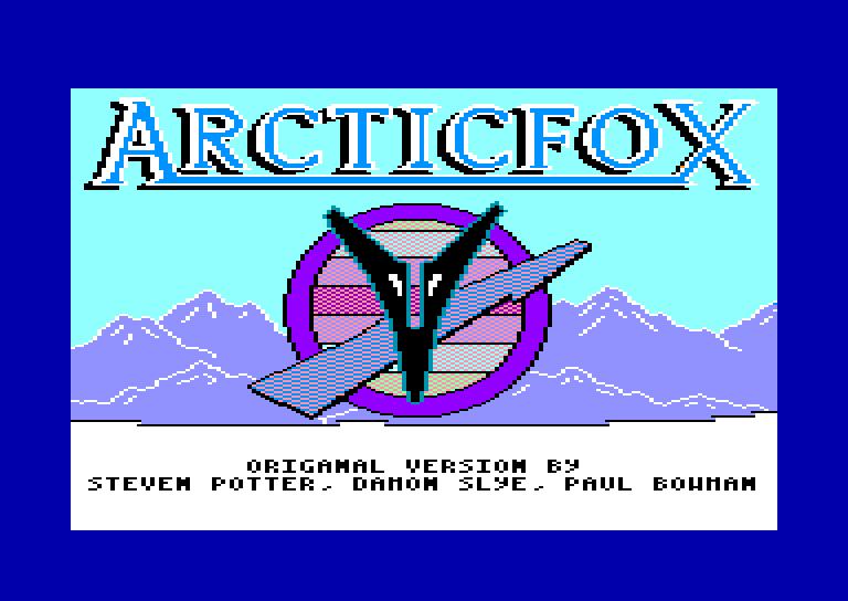 screenshot of the Amstrad CPC game Arcticfox