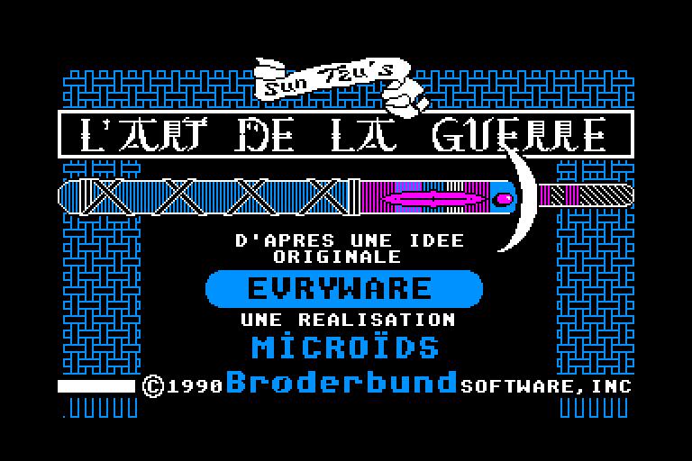 screenshot of the Amstrad CPC game Art de la guerre (l')