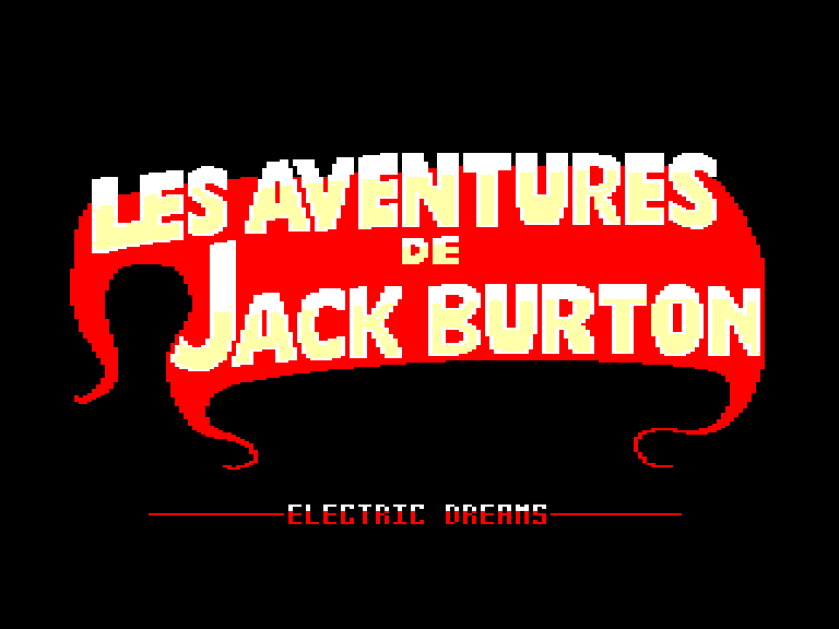 screenshot of the Amstrad CPC game Aventures de Jack Burton (les)