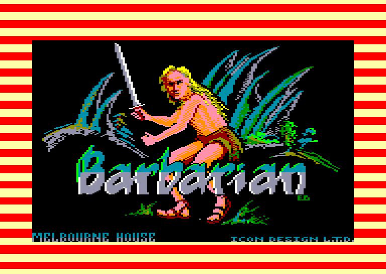 screenshot of the Amstrad CPC game Barbarian