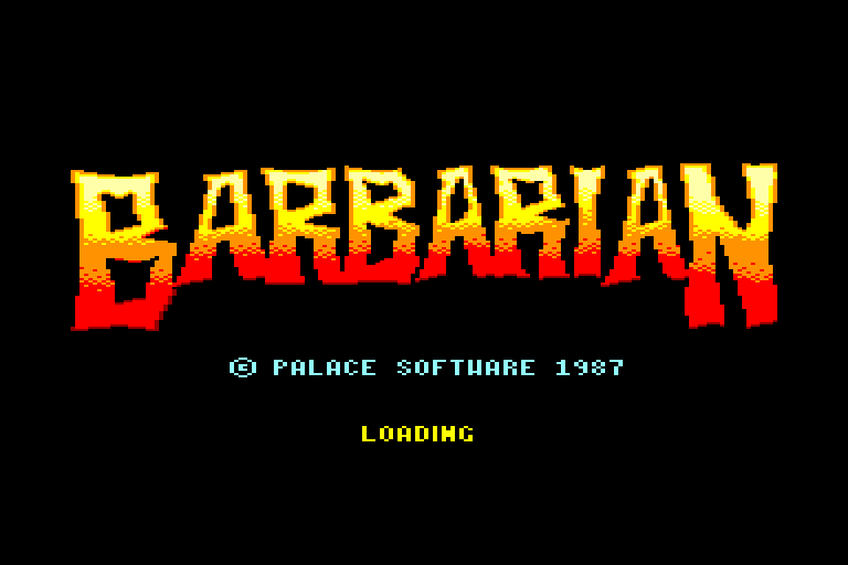 screenshot of the Amstrad CPC game Barbarian