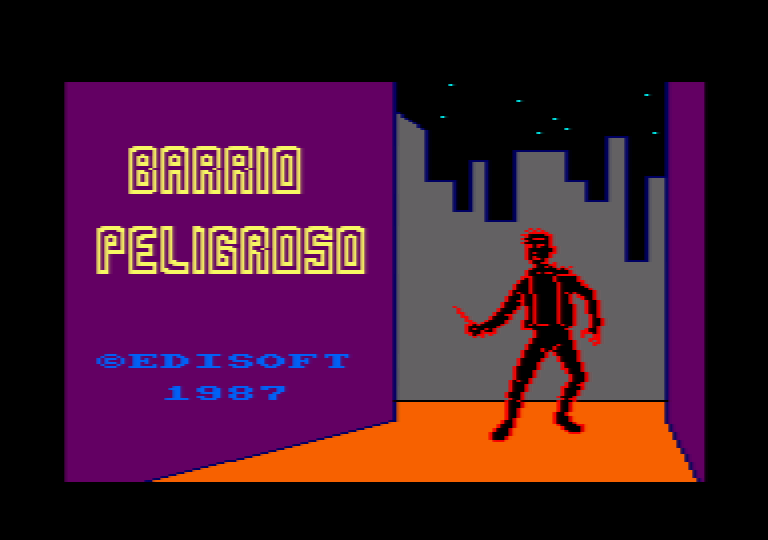 screenshot of the Amstrad CPC game Barrio Peligroso