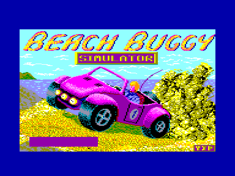 screenshot of the Amstrad CPC game Beach buggy simulator