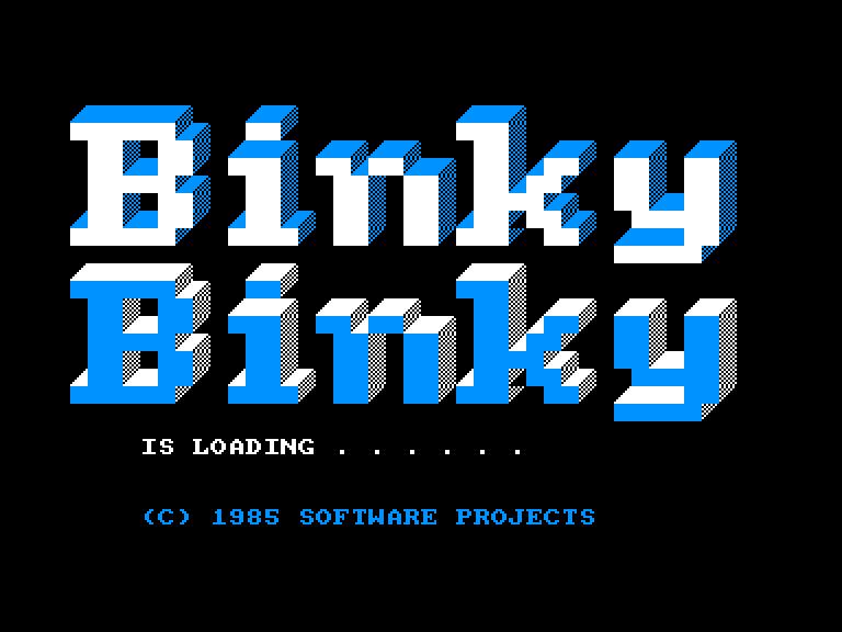 screenshot of the Amstrad CPC game Binky