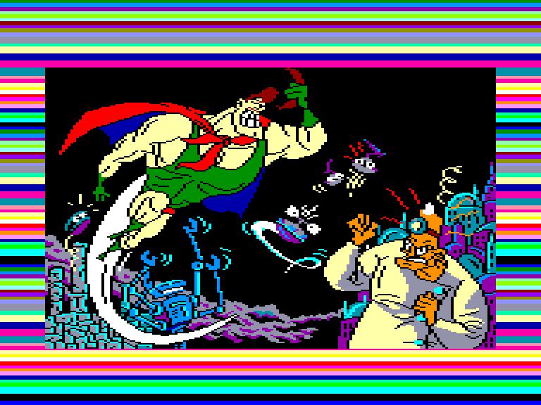 screenshot of the Amstrad CPC game Capitan Sevilla