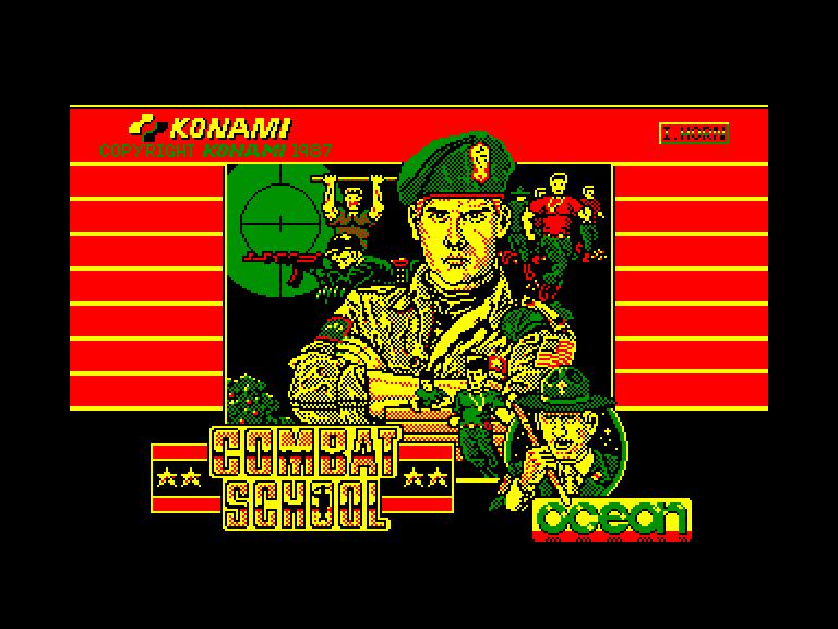 screenshot of the Amstrad CPC game Combat school