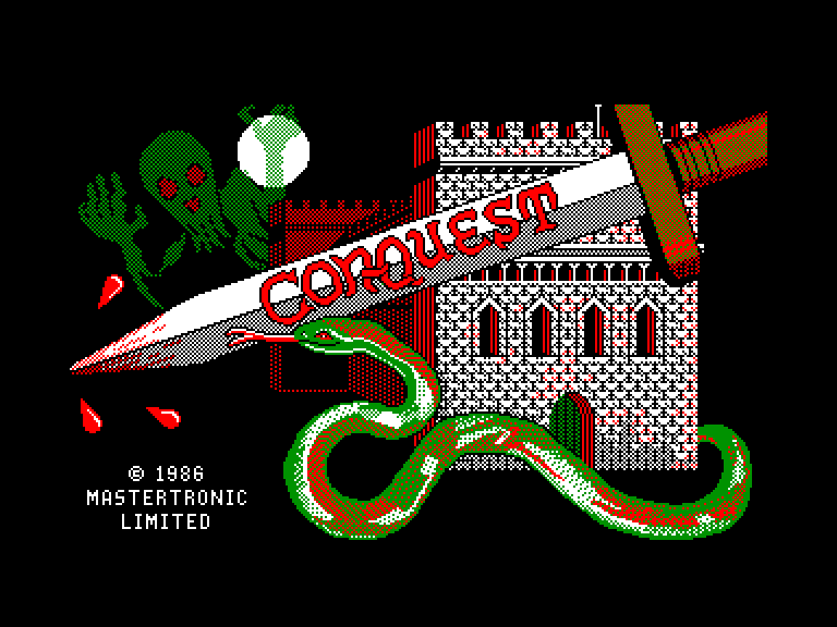 screenshot of the Amstrad CPC game Con-quest