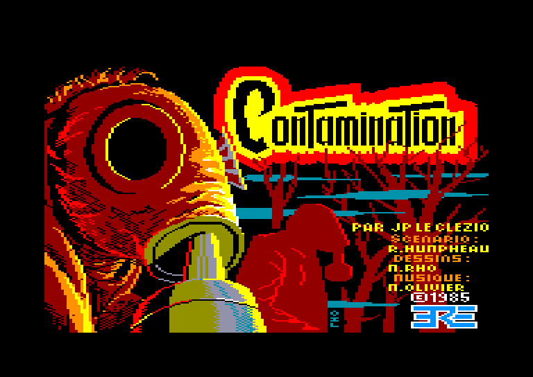 screenshot of the Amstrad CPC game Contamination