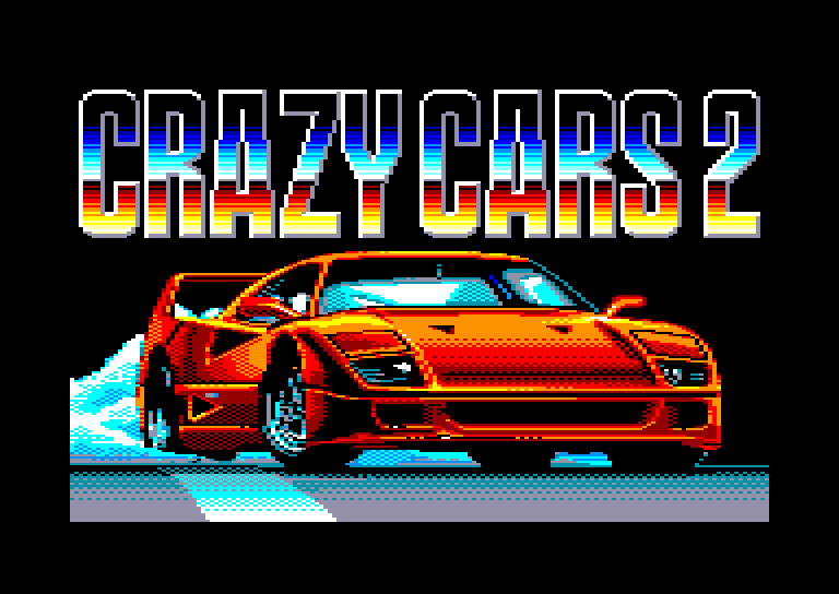 screenshot of the Amstrad CPC game Crazy cars II