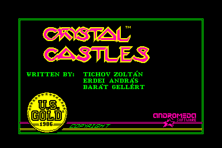 screenshot of the Amstrad CPC game Crystal castles