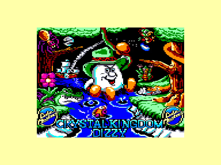 screenshot of the Amstrad CPC game Crystal Kingdom Dizzy