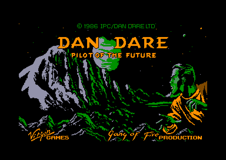 screenshot of the Amstrad CPC game Dan Dare