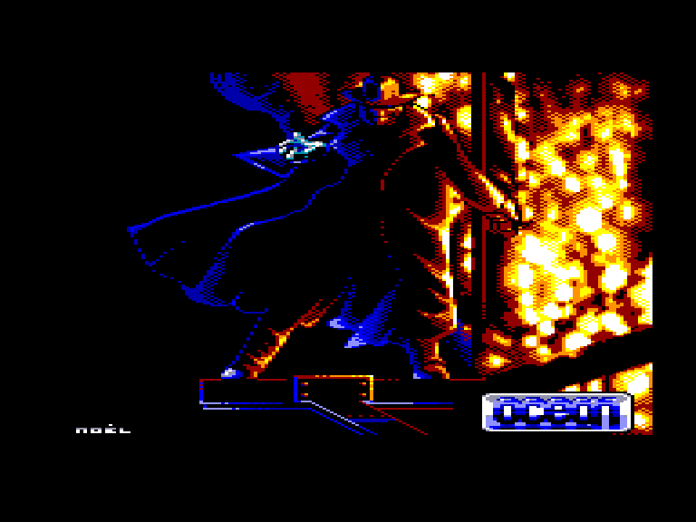 screenshot of the Amstrad CPC game Darkman