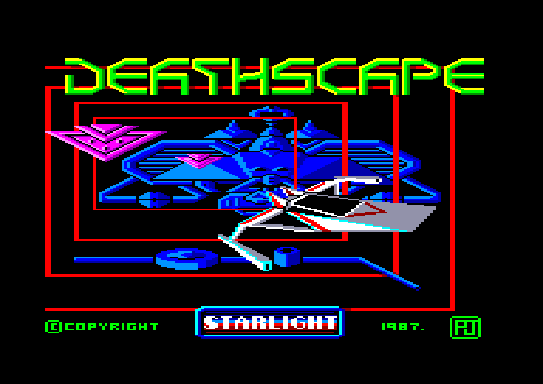screenshot of the Amstrad CPC game Deathscape