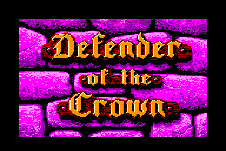 screenshot of the Amstrad CPC game Defender of the crown