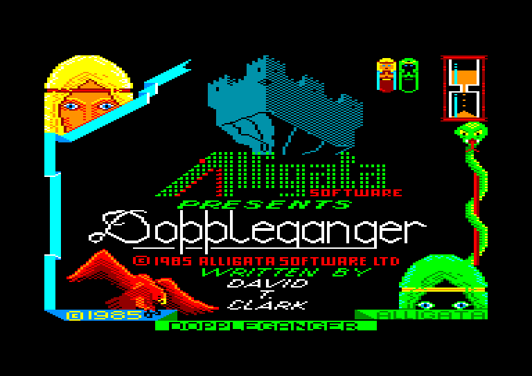 screenshot of the Amstrad CPC game Doppleganger