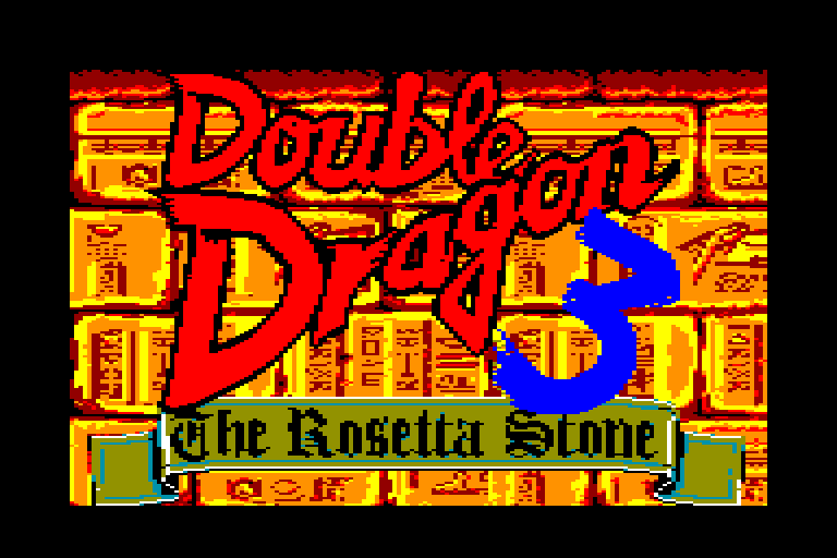 screenshot du jeu Amstrad CPC Double Dragon III - The Rosetta Stone