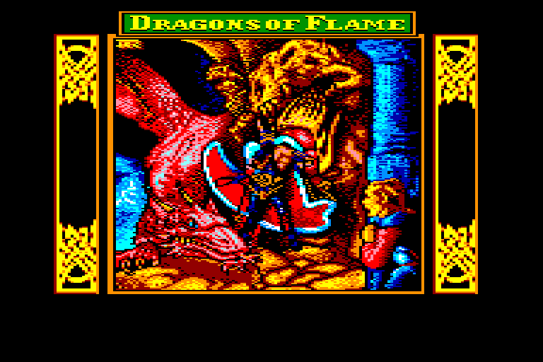 screenshot of the Amstrad CPC game Dragons of flame