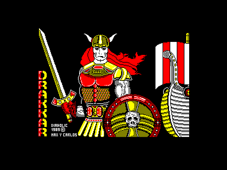 screenshot of the Amstrad CPC game Drakkar