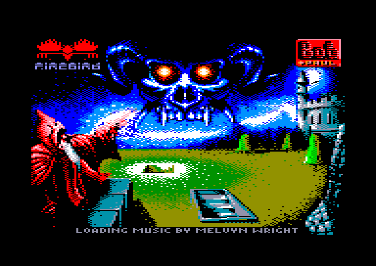 screenshot of the Amstrad CPC game Druid