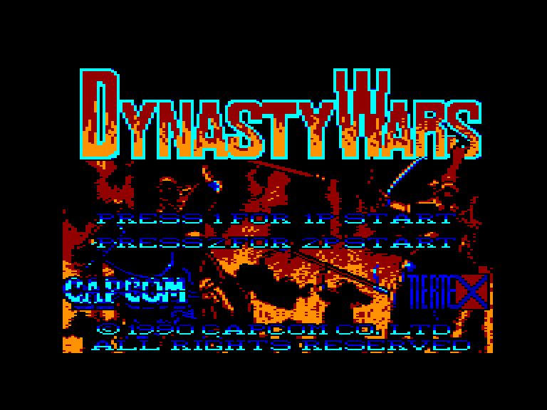 screenshot of the Amstrad CPC game Dynasty wars