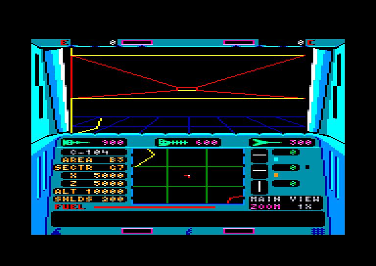 screenshot of the Amstrad CPC game Echelon