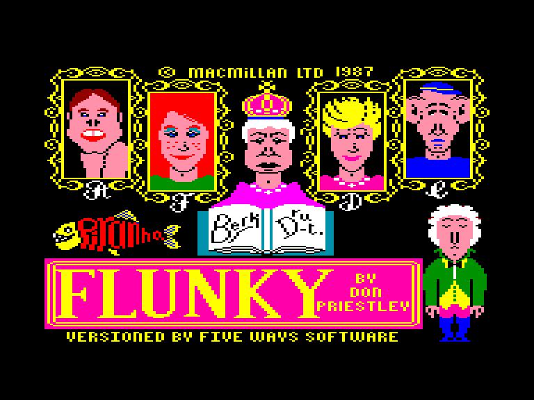 screenshot du jeu Amstrad CPC Flunky