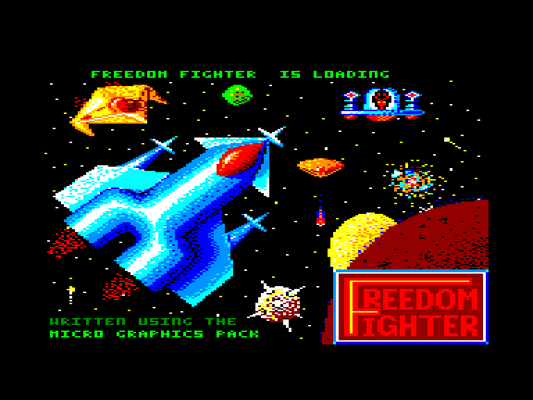 screenshot of the Amstrad CPC game Freedom fighter