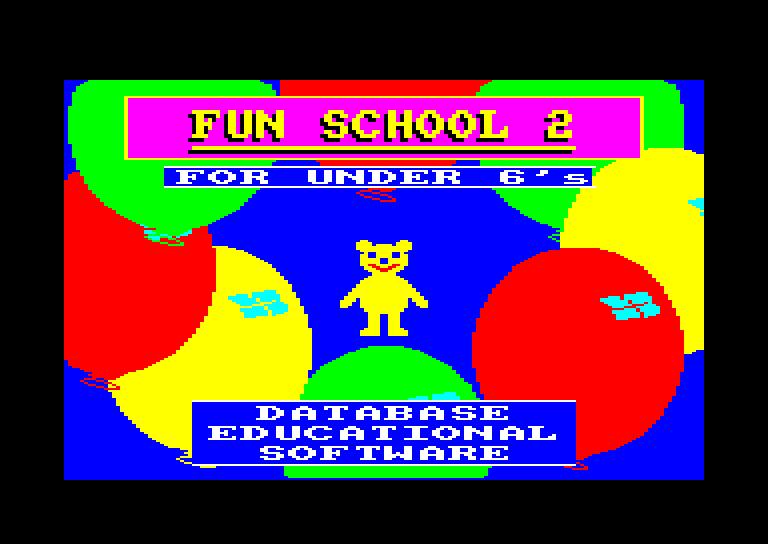 screenshot du jeu Amstrad CPC Fun School 2 - For the Under 6s