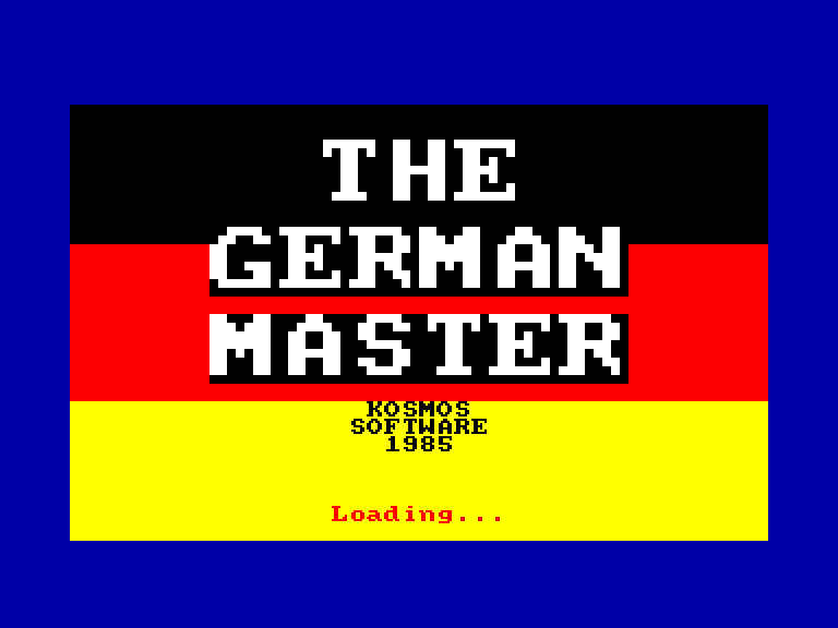 screenshot of the Amstrad CPC game German Master (the)