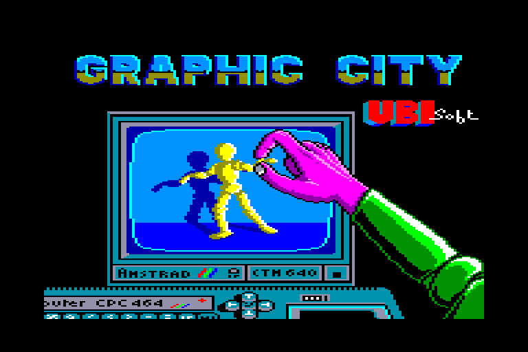 screenshot of the Amstrad CPC game Graphic city
