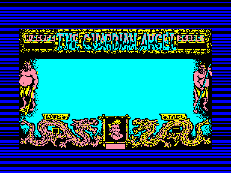 screenshot of the Amstrad CPC game Guardian Angel