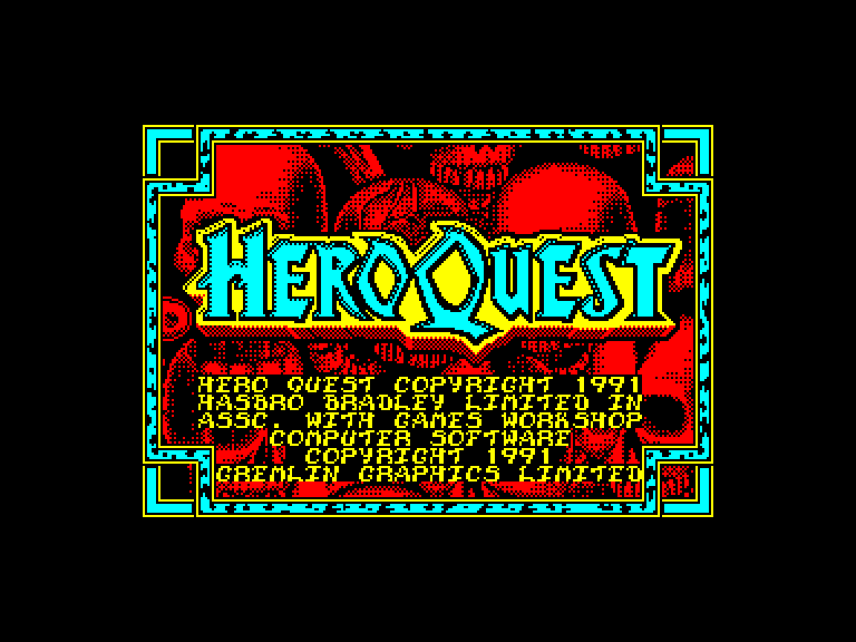 screenshot of the Amstrad CPC game Hero Quest - Return of the Witch Lord