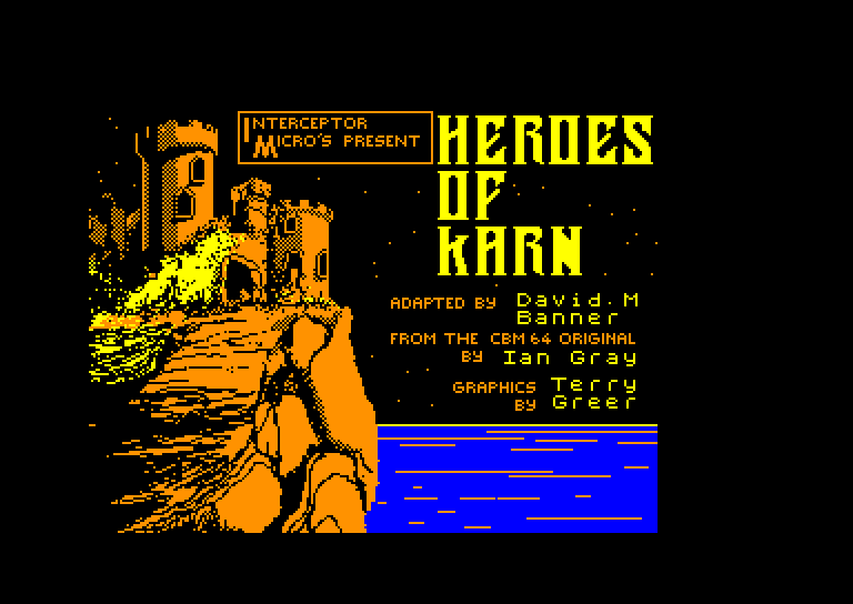 screenshot of the Amstrad CPC game Heroes of karn
