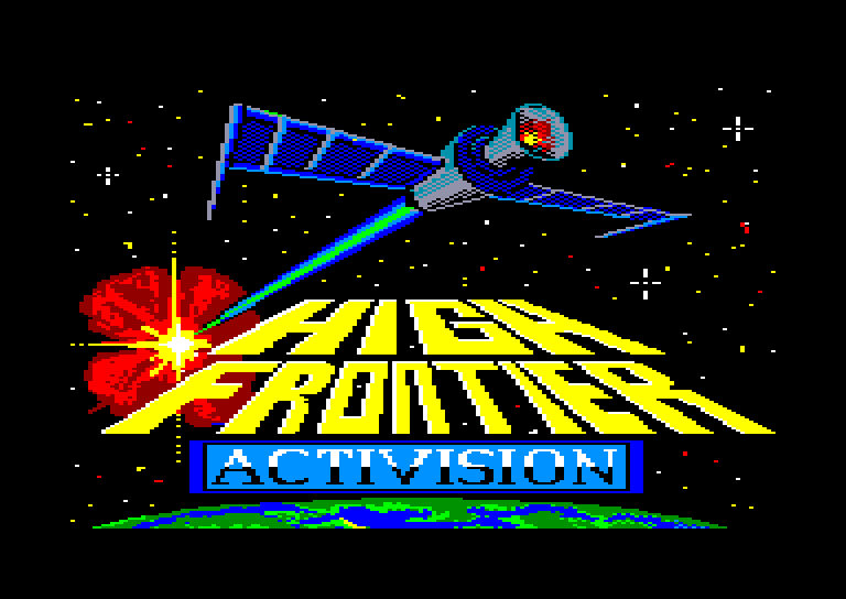 screenshot of the Amstrad CPC game High frontier