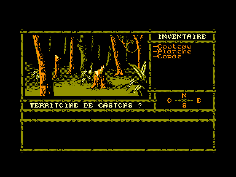 screenshot of the Amstrad CPC game Ile Oubliée (l')
