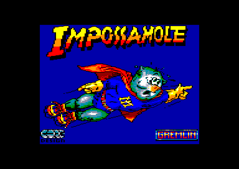 screenshot of the Amstrad CPC game Impossamole