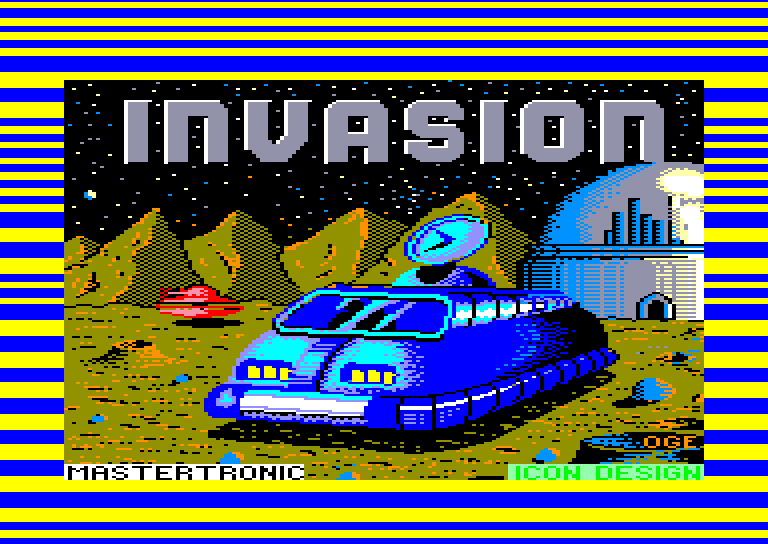 screenshot of Invasion provided by GameBase CPC