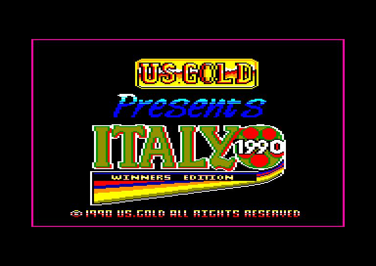 screenshot of the Amstrad CPC game Italy 1990 - Winners Edition