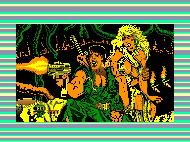 screenshot of the Amstrad CPC game Jungle Warrior