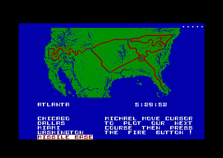 screenshot of the Amstrad CPC game Knight rider