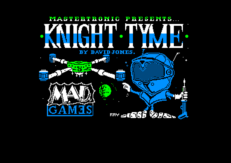 screenshot of the Amstrad CPC game Knight tyme